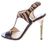 Jimmy Choo Ponyhair T-Strap Sandals