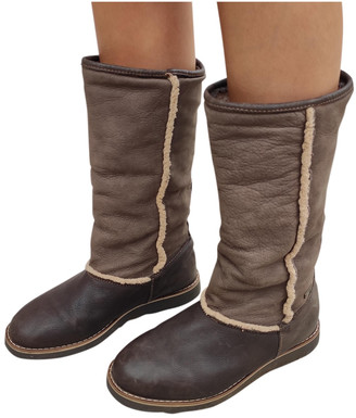 Non Signã© / Unsigned Brown Shearling Boots