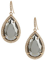 ABS by Allen Schwartz Pave Bezel Stone Drop Earrings