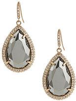 ABS by Allen Schwartz Pave Bezel Stone Drop Earrings