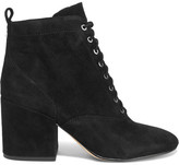 Sam Edelman Tate Lace-up Suede Ankle Boots - Black