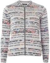 Dorothy Perkins Grey Floral Bomber Jacket
