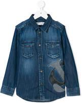 John Galliano logo patch denim shirt