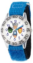 Marvel Boys' Marvel's Avengers Captain America-Hulk-Iron Man and Thor Clear Plastic Watch - Blue