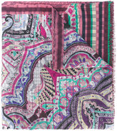 Etro printed scarf - men - Cotton/Wool/Silk - One Size