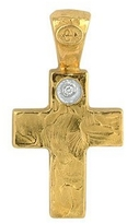 Torrini 18K Yellow Gold Cross with Diamond