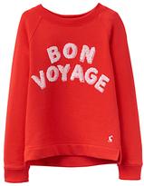 Joules Little Joule Girls' Bon Voyage Sweatshirt, Red