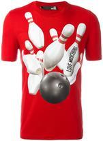 Love Moschino 'Bowling' print T-shirt - men - Cotton/Spandex/Elastane - S