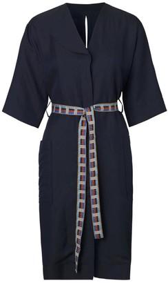 Libertine-Libertine Dark Navy Torino Shirt Dress - XS - Blue/Red