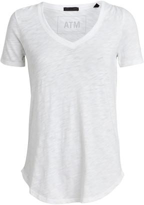 ATM Anthony Thomas Melillo Slub Cotton V-Neck T-Shirt