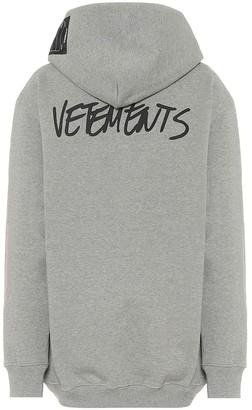 Vetements Oversized cotton-blend hoodie