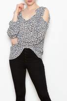 Kay Celine Floral Ruffle Top