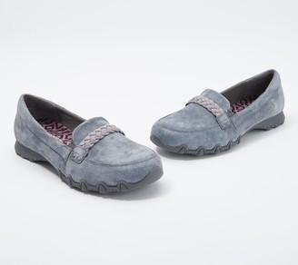 Skechers Suede Slip-On Shoes - Bikers- Melbourne