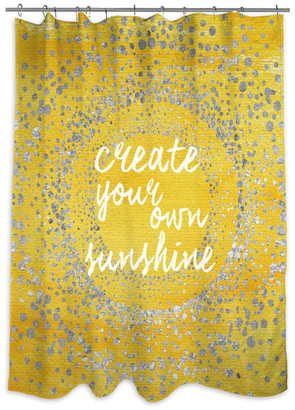 """Oliver Gal Your Own Sunshine"""" Shower Curtain, 71""""x74"""""""