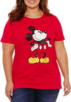 Freeze Short Sleeve Crew Neck Mickey Mouse Graphic T-Shirt