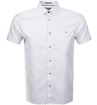 Ted Baker Short Sleeved Mathew Shirt White