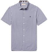 Burberry Slim-fit Gingham Cotton Shirt - Navy