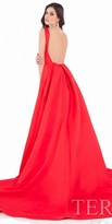 Terani Couture Bustle Up Exposed Back Ball Gown