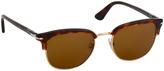 Persol Havana & Brown Browline Sunglasses