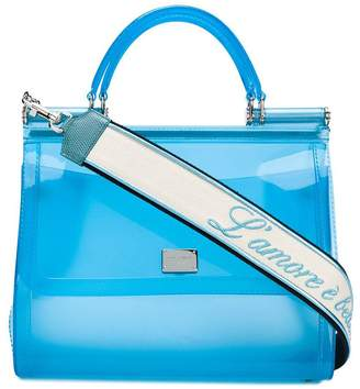 Dolce & Gabbana semi-transparent Sicily tote bag