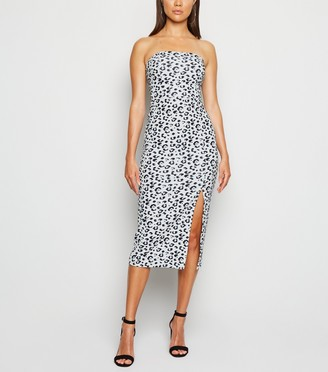 New Look Leopard Print Bandeau Bodycon Dress