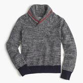 J.Crew Boys' shawl-collar speckled cotton sweater