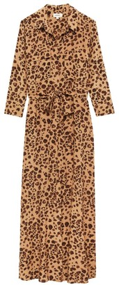 L'Agence Cameron Leopard Shirtdress