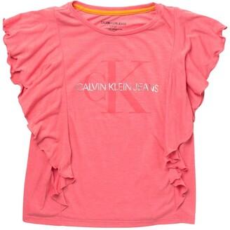 Calvin Klein Logo Print Flutter T-Shirt