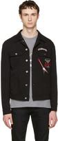 Dolce & Gabbana Black 'Follow Me' Denim Jacket