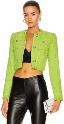 Brognano BROGNANO Tweed Lady Jacket in Green   FWRD