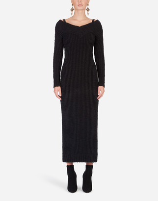 Dolce & Gabbana Long-Sleeved Knit Dress