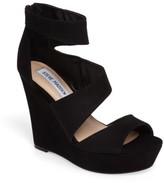 Steve Madden Women's Essey Asymmetrical Platform Wedge Sandal