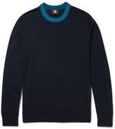 Paul Smith Contrast-Trimmed Merino Wool-Blend Sweater