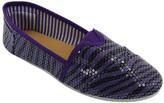 Purple Zebra Classic Tammy Slip-On Shoe