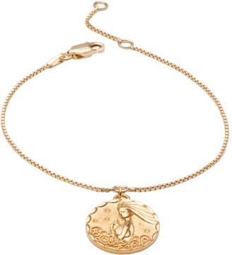 Rachel Jackson London Zodiac Art Coin Aquarius Bracelet Gold