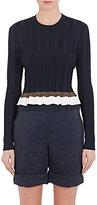 Nina Ricci Women's Colorblocked Peplum Sweater