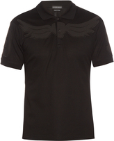 Alexander McQueen Wings-appliqué cotton-piqué polo shirt