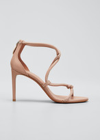 Alaia Twisted Studded Suede Sandals
