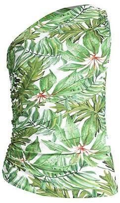 Chiara Boni Onnys Palm Leaf-Print Swimsuit Top