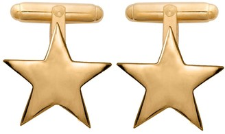 Edge Only Star Cufflinks In Gold