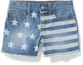 Old Navy Stars-and-Stripes Denim Cut-Offs for Girls