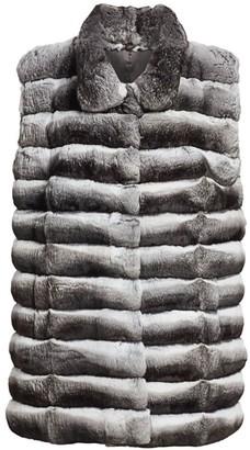 The Fur Salon Collared Chinchilla Fur Vest