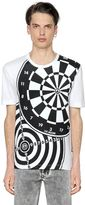 Love Moschino Dart Board Printed Cotton Jersey T-Shirt