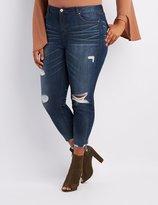 Charlotte Russe Plus Size Refuge Destroyed Skinny Jeans