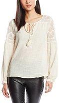 Deby Debo Women's Plain Long Sleeve Blouse - Off-White -
