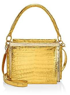 Nancy Gonzalez Women's Small Radziwell Metallic Crocodile Top Handle Bag