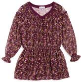 Splendid Girls' Floral Crinkle Chiffon Dress - Sizes 2-6X