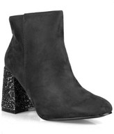Nature Breeze Ankle High Women's Glitter Heeled Booties in Grey