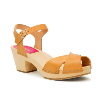 Swedish Hasbeens Natural Leather Mirja Sandal - 36 | leather | natural - Natural/Natural