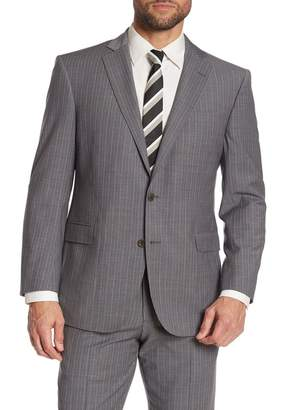 Brooks Brothers Grey Pinstripe Two Button Notch Lapel Explorer Collection Regent Fit Suit Separates Jacket
